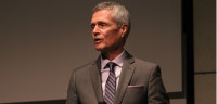 David Viar speaks in the GCC auditorium on April 25.