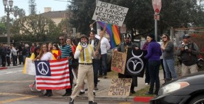 Hundreds of local residents turn out Sunday to counter a protest by members of the infamous Westboro Baptist church.
